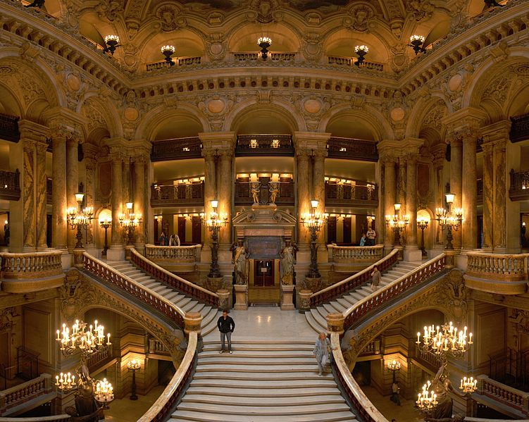 Grand Opera staircase in Paris