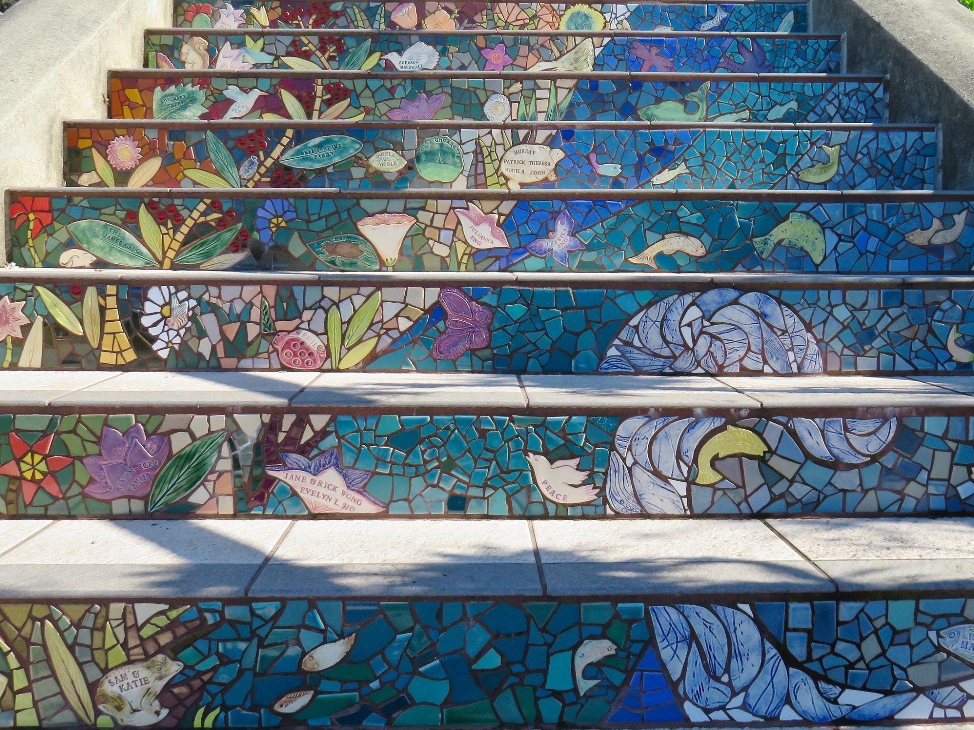 Tiled Steps in San Francisco